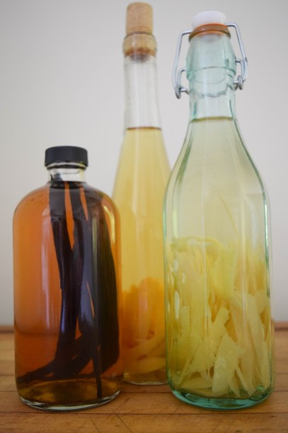 Homemade Vanilla Extract - a bag of flour