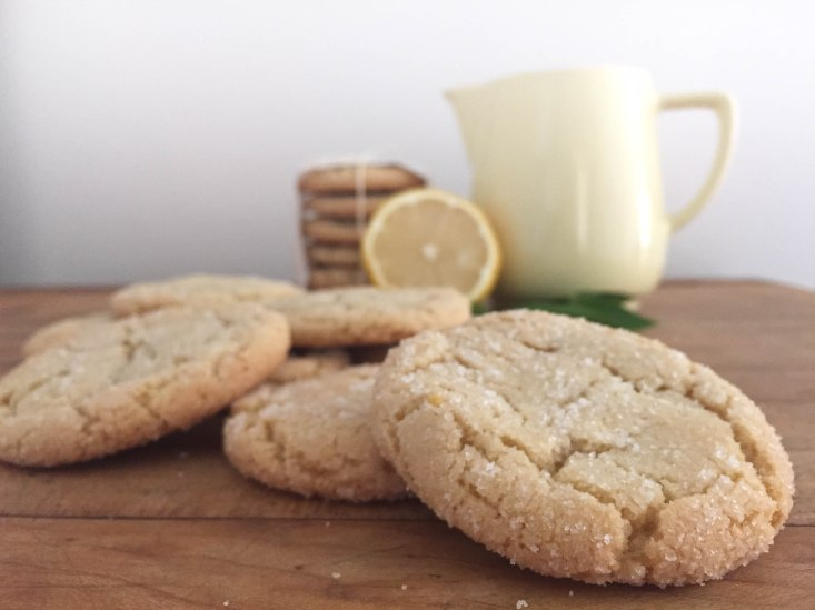Zesty Lemon Cookies - a bag of flour