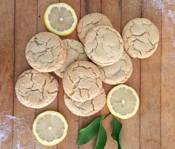 Zesty Lemon Cookies - a bag of flour