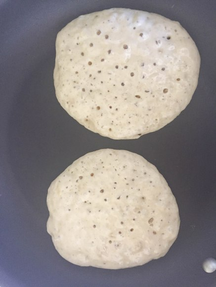 Deliciously Fluffy Banana Pancakes - a bag of flour