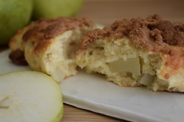 Pear Scones with Spice Crumbles - abagofflour.com