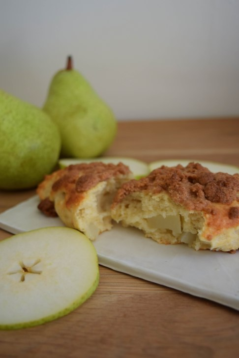 Pear Scones with Spice Crumbles - abagofflour.com -13