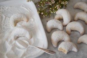Vanilla Almond Crescent Cookies | abagofflour.com