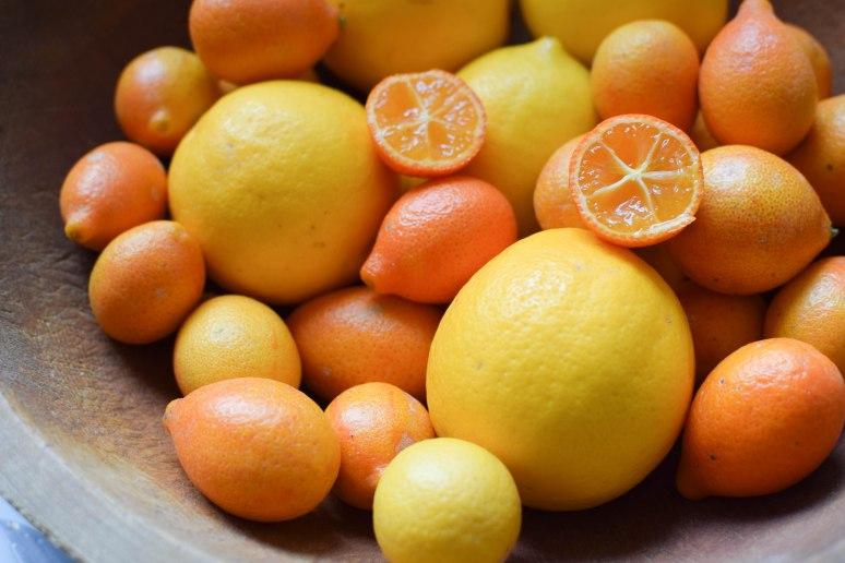 Meyer Lemon Cheesecake with Candied Kumquats | abagofflour.com