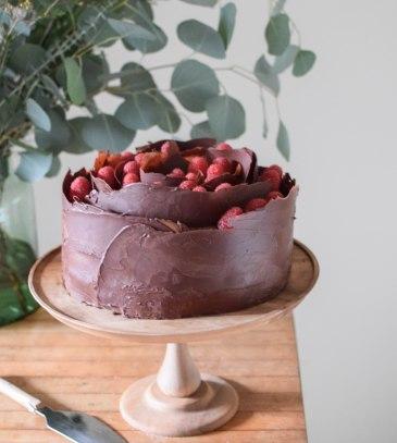 Chocolate Raspberry Cake   abagofflour.com