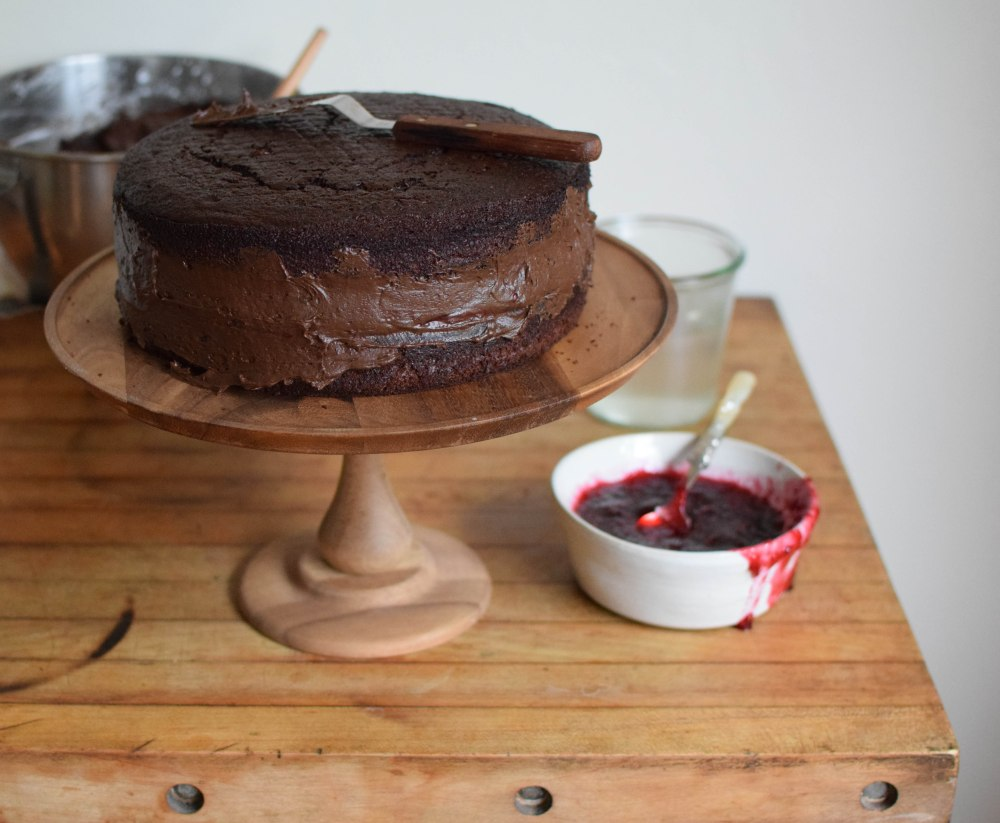 Chocolate Raspberry Cake | abagofflour.com